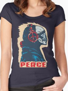 Peace Skull Women's Fitted Scoop T-Shirt