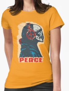 Peace Skull Womens Fitted T-Shirt