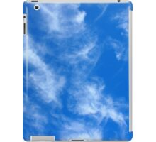 Only the blue sky with cirrus clouds iPad Case/Skin