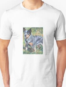 Australian Cattle Dog Fine Art Painting Unisex T-Shirt