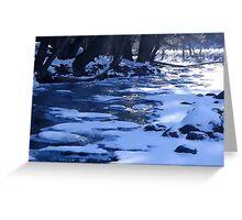 Ice Water Greeting Card