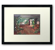 Dorothy's House in Oz After the Passage of time. Framed Print