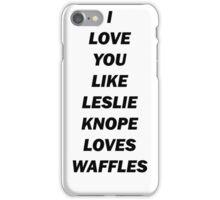Leslie's Waffles iPhone Case/Skin