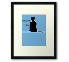 Moral Highground Framed Print