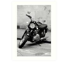 Old Triumph Bonneville Motorbike Art Print