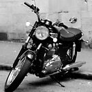 Old Triumph Bonneville Motorbike by MWhitham