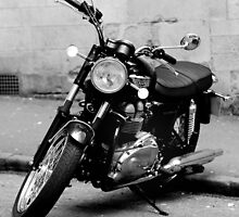 Old Triumph Bonneville Motorbike by MWhitham