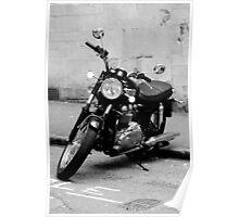 Old Triumph Bonneville Motorbike Poster