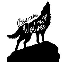 Beware of the Wolves Photographic Print