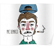 Mac Demarco HQ Cartoon Poster
