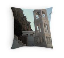Church In Greek Island Throw Pillow