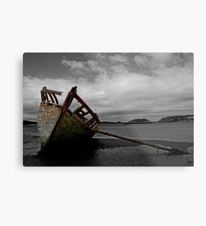 Stranded boat, Dungloe, Donegal Metal Print