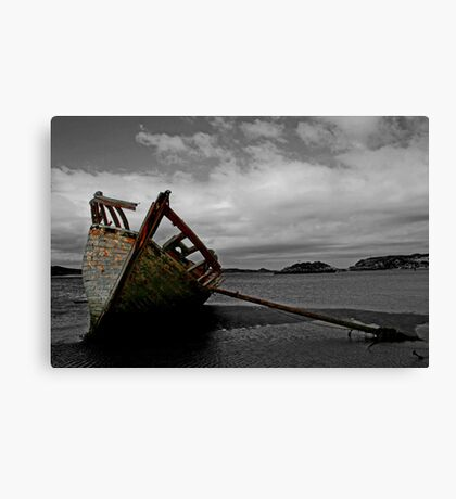 Stranded boat, Dungloe, Donegal Canvas Print