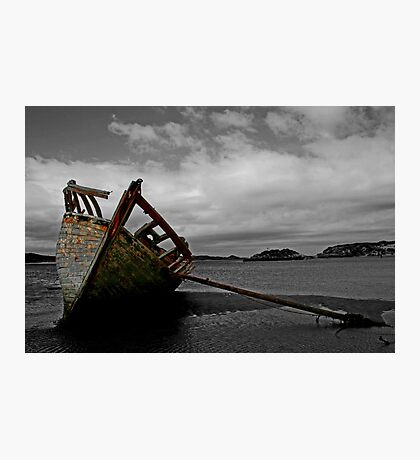 Stranded boat, Dungloe, Donegal Photographic Print