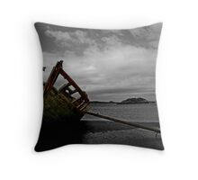 Stranded boat, Dungloe, Donegal Throw Pillow