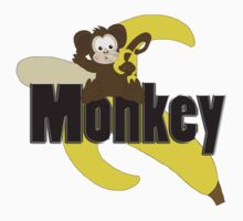 Monkey with Banana by Chere Lei