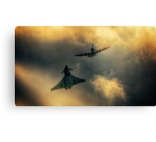 Eurofighter and Spitfire Flypast Canvas Print