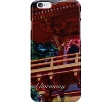 I WISH YOU PEACE AND HARMONY iPhone Case/Skin