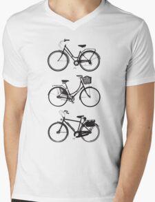 Three Bicycles Mens V-Neck T-Shirt