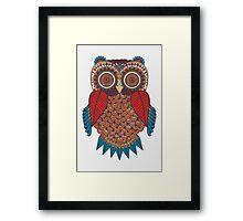 Pattern Owl Framed Print