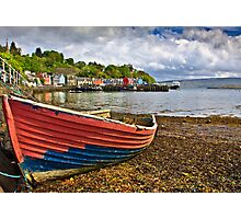 Old boat in Tobermory harbour Photographic Print