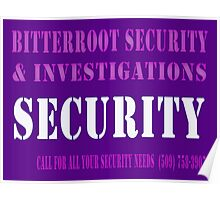 Glowing Security Poster