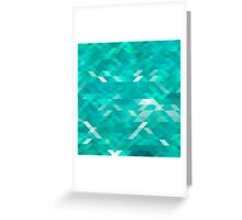 emerald green background Greeting Card