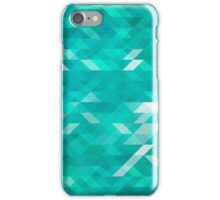 emerald green background iPhone Case/Skin