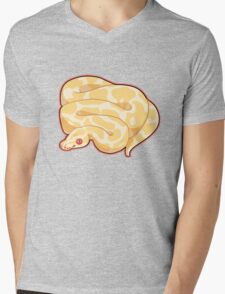 Albino Ball Python Mens V-Neck T-Shirt