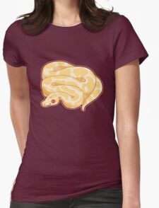 Albino Ball Python Womens Fitted T-Shirt