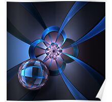 Portal with Blue Glass Ball Poster