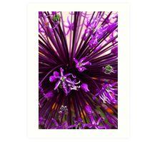Purple Now! Art Print