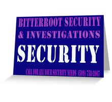 Security in Blue Greeting Card