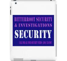 Security in Blue iPad Case/Skin