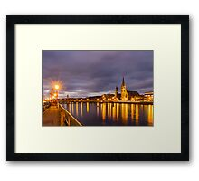 Church and Bridge Reflections on the River Ness Framed Print