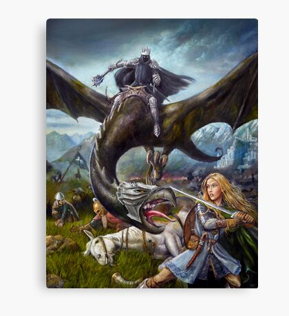 Eowyn and the Nazgul Canvas Print