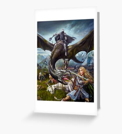 Eowyn and the Nazgul Greeting Card