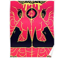 Third Eye Elephant - Pink Poster