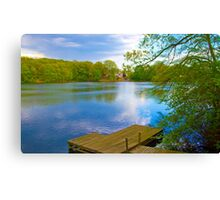 Brady Lake Dock Canvas Print