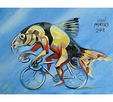 Clown Loach on a Bicycle Photographic Print