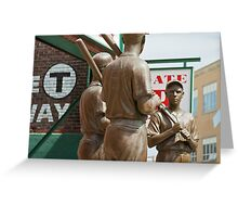 Red Sox Statue Greeting Card