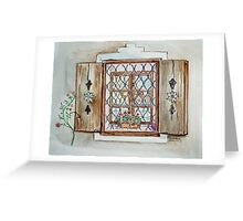 Shuttered window Austria Greeting Card