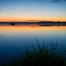 Loch of Skene Technicolor Sunset Reflections by Bill Buchan