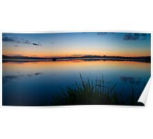 Loch of Skene Technicolor Sunset Reflections Poster