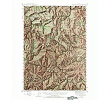 USGS Topo Map Oregon Dutchman Butte 282435 1946 62500 Photographic Print