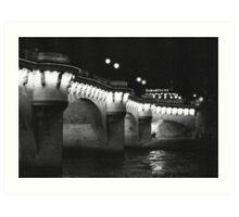 Pont Neuf at Night, Paris Art Print