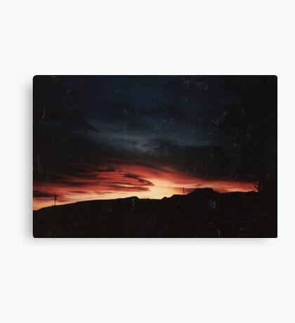 'Lava' Sky Sunset Canvas Print