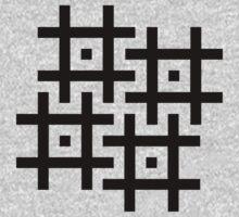 Cross-Stitch Swastika Pattern - Black Kids Clothes