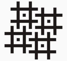 Cross-Stitch Swastika Pattern - Black Kids Clothes