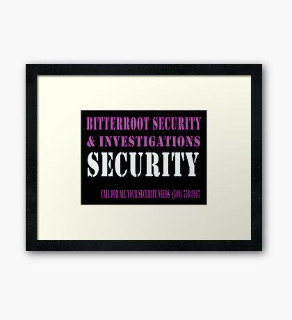 Security in Black Framed Print